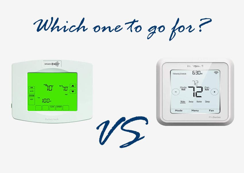 Honeywell Z-wave Thermostat - T6 Pro vs YTH8320ZW1007/U